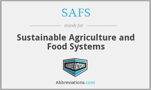SAFS - Sustainable Agriculture and Food Systems