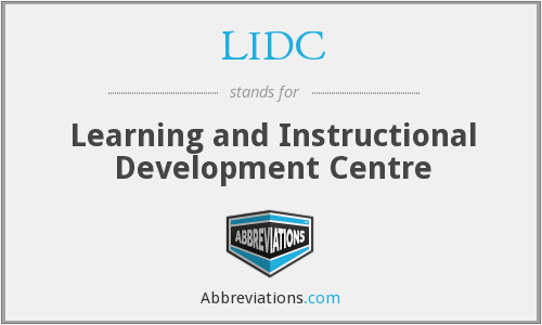 What does LIDC stand for?