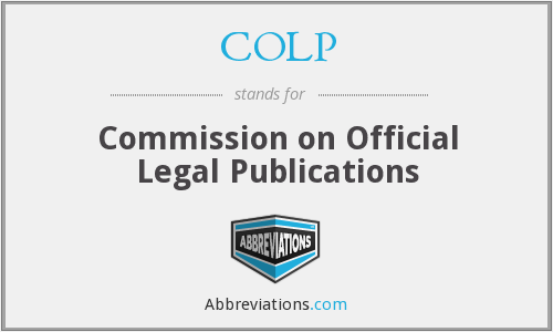 COLP - Commission on Official Legal Publications
