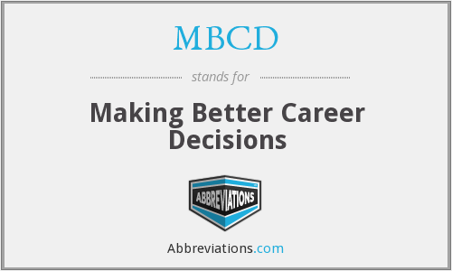 What does MBCD stand for?
