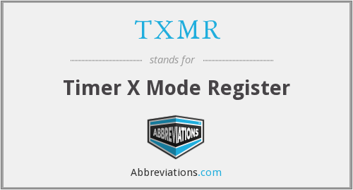 What does TXMR stand for?