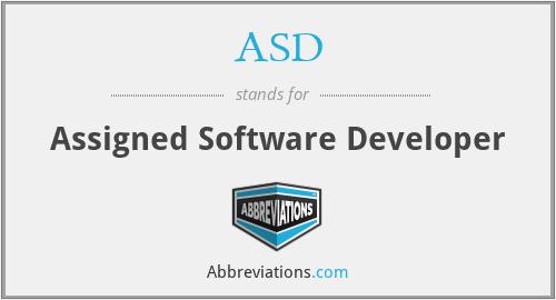 ASD - Assigned Software Developer
