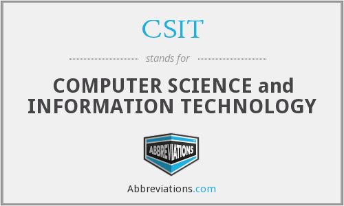 What does CSIT stand for?