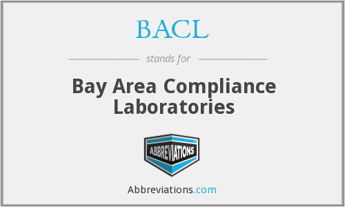 BACL - Bay Area Compliance Laboratories
