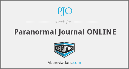 PJO - Paranormal Journal ONLINE