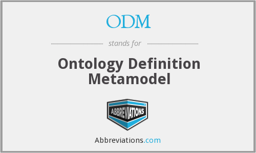 ODM - Ontology Definition Metamodel