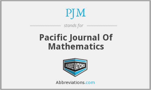PJM - Pacific Journal Of Mathematics