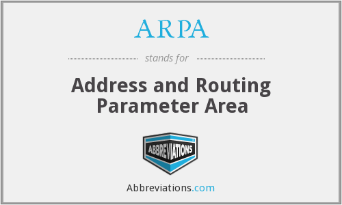 ARPA - Address and Routing Parameter Area