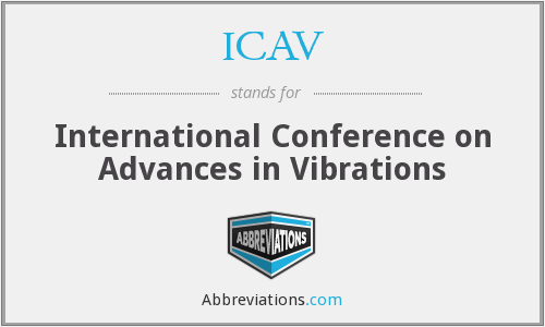 ICAV - International Conference on Advances in Vibrations