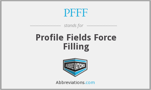 PFFF - Profile Fields Force Filling