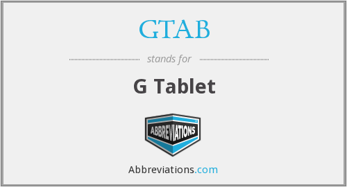 What does GTAB stand for?