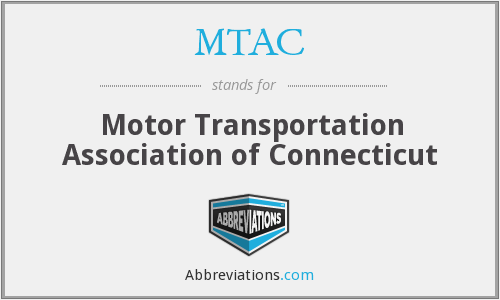MTAC - Motor Transportation Association of Connecticut