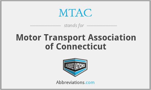 MTAC - Motor Transport Association of Connecticut