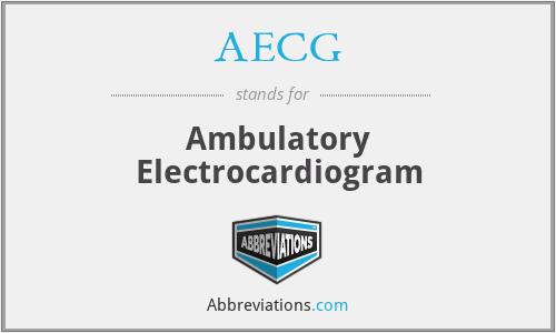 AECG - Ambulatory Electrocardiogram