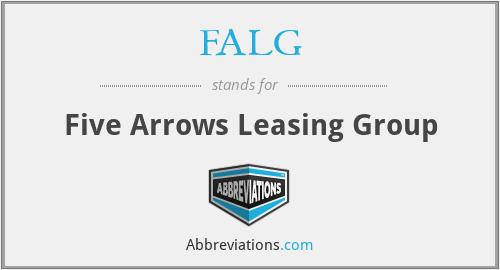 FALG - Five Arrows Leasing Group