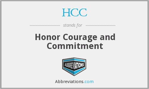 HCC - Honor Courage and Commitment