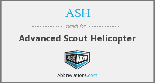 ASH - Advanced Scout Helicopter