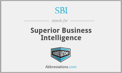 SBI - Superior Business Intelligence