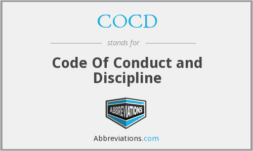 COCD - Code Of Conduct and Discipline