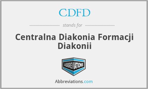 CDFD - Centralna Diakonia Formacji Diakonii