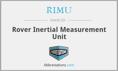 RIMU - Rover Inertial Measurement Unit