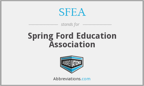 What does SFEA stand for?