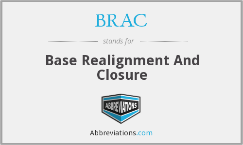 BRAC - Base Realignment And Closure