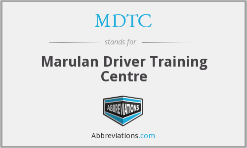 What does MDTC stand for?