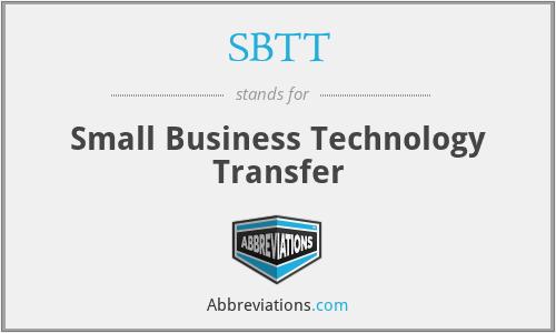 SBTT - Small Business Technology Transfer