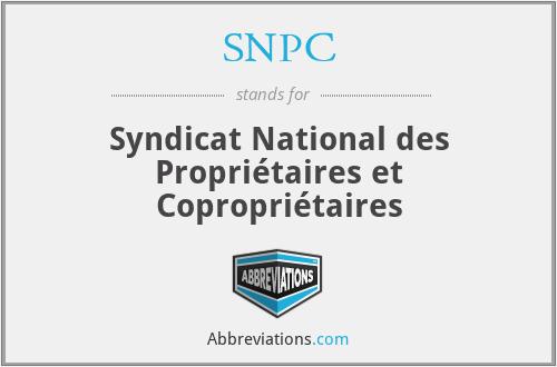 SNPC - Syndicat National des Propriétaires et Copropriétaires