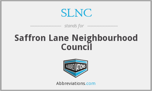 What does SLNC stand for?