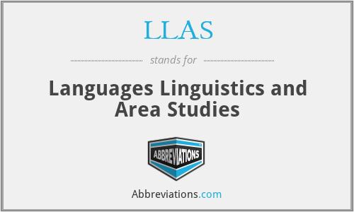 LLAS - Languages Linguistics and Area Studies