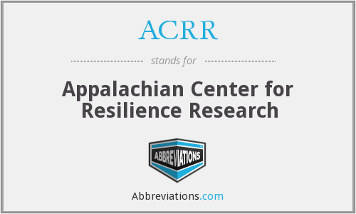 ACRR - Appalachian Center for Resilience Research