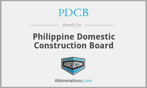 PDCB - Philippine Domestic Construction Board