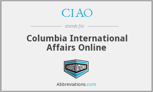 CIAO - Columbia International Affairs Online