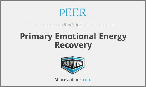 PEER - Primary Emotional Energy Recovery