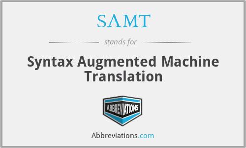 SAMT - Syntax Augmented Machine Translation
