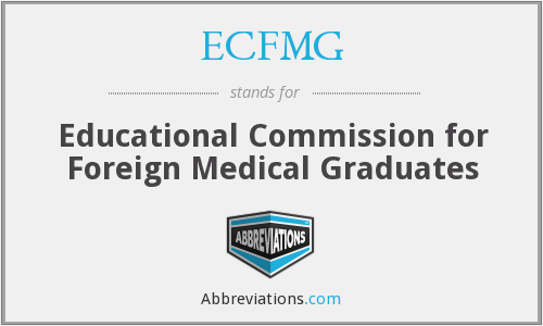 What does ECFMG stand for?