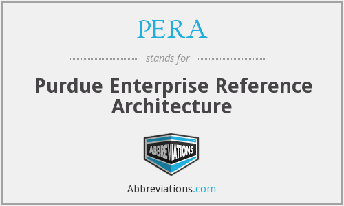 PERA - Purdue Enterprise Reference Architecture