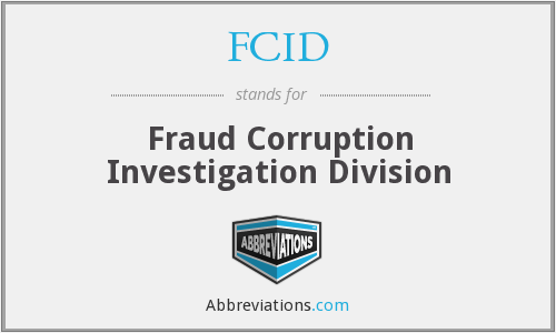 FCID - Fraud Corruption Investigation Division