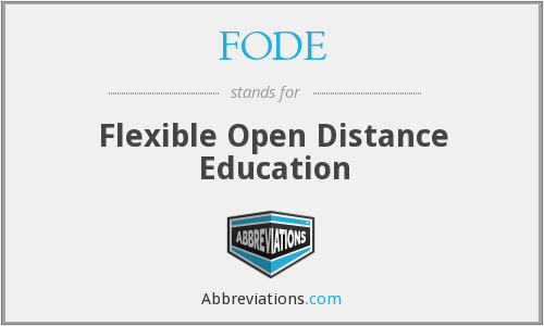 What does FODE stand for?