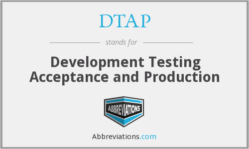 DTAP - Development Testing Acceptance and Production