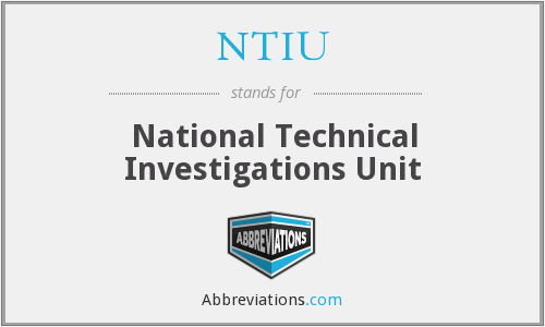 NTIU - National Technical Investigations Unit