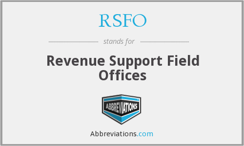 What does RSFO stand for?