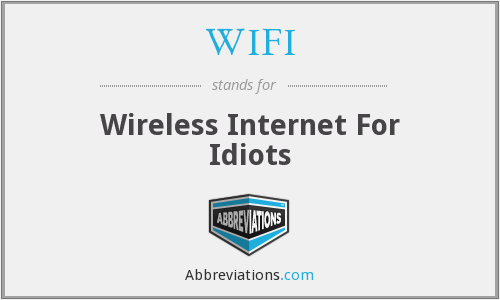WIFI - Wireless Internet For Idiots