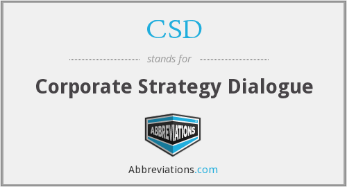 CSD - Corporate Strategy Dialogue