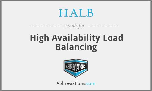HALB - High Availability Load Balancing