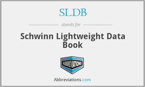 SLDB - Schwinn Lightweight Data Book