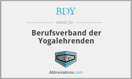 BDY - Berufsverband der Yogalehrenden
