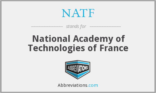 NATF - National Academy of Technologies of France